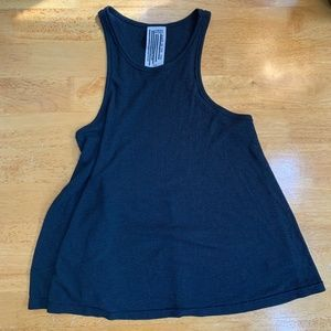 2/$15 Free People Black Ribbed Flowy Tank Small